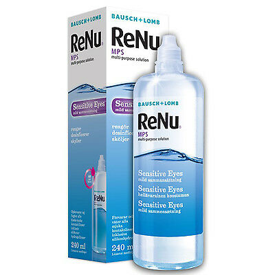 Bausch & Lomb ReNu Multi-Purpose Contact Lens Solution, 1 x 240ml Pack of 1