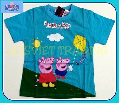 BNWT George Peppa Pig T-Shirt Top boys Tshirt kids children cartoon cotton new