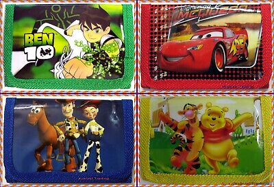 new Toy Story Cars Pooh Bear Ben 10 Ten wallet boys kids tri-fold coin purse