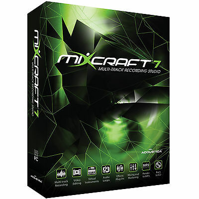 NEW Mixcraft 7/8 Audio Recording MIDI Sequencer Boxed Official UK Distributor 6