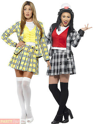 Adults Clueless Costume Ladies Cher Dionne Fancy Dress TV Film Womans Outfit