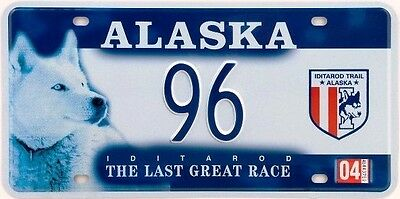 Us License Plate Alaska Iditarod Trail - Usa Metal Replica Collectible 77