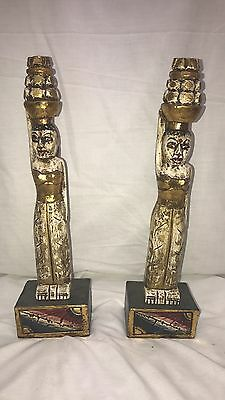 Two Indian statues