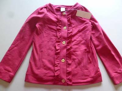 Gymboree Star Of The Show Pink Sweatshirt Jacket Button Front Size 10-12 Lg NEW