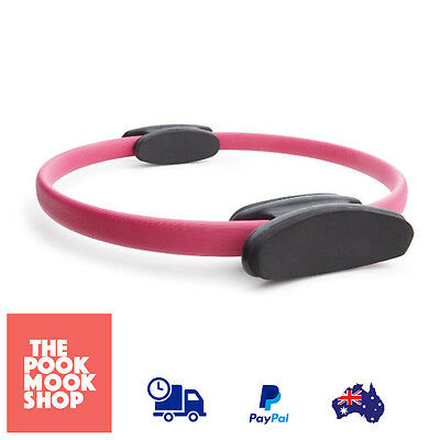 Pilates Ring Pink Fitness Circle Exercise Yoga Gear Soft Foam Grips Workout Band