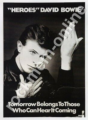 David Bowie Heroes RCA Reproduction Poster