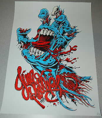 Ken Taylor Screaming Hand Art Screen Print Poster Jim Phillips Signed Numbered