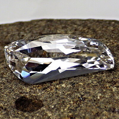 DANBURITE-MEXICO 6.80Ct FLAWLESS-FOR JEWELRY-FREE FORM BRILLIANT CUT