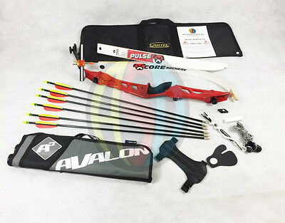 "Red 70"" Core Archery Jet Take Down Recurve Bow & Complete Package"