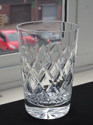 "Webb Corbett Crystal ""clifton"" Pattern Tumbler"