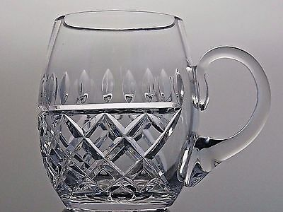 "Galway Irish Crystal Cut Glass ""rathmore"" Pattern Beer Mug/cup Tankard"