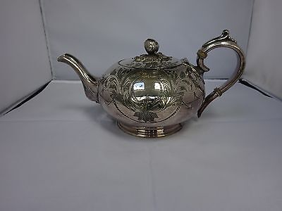 Victorian Silver Plated Heavily Decorate Teapot By James Dixon Sheffield