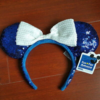 New Disney Parks Minnie Mouse Ears Mickey Headband Festival Costume Party Blue