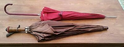 Vintage Umbrellas. 1 Paragon Fox & Co 10 rib and 1 Double Layer Parasol 10 rib