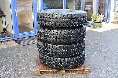 X4 Used Goodyear 12.00R20 Omnitrac Msd Tyres Approx 70% Tread Remaining Truck
