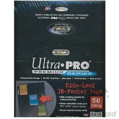 100 ULTRA PRO Premium 18 Pocket Side Load Pages Sheets New in Box