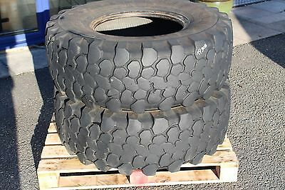 X2 Used Continental 365/80R20 Mpt81 Tyres Approx 30% Tread Remaining Unimog