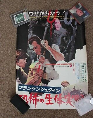 Hammer Films - Frankenstein Must Be Destroyed - Original 1969 Japanese Poster