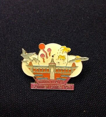 Los Angeles Thank You Lapel Pin Summer Olympic Games 1984