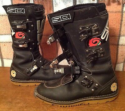 Size 46 SIDI Boots FLAT SOLE Purchased 2000 made Italy Trials Atv Mx