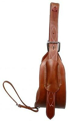 "Showman 7"" Wide Leather Horse Flank / Back Cinch in MEDIUM OIL! NEW HORSE TACK!"