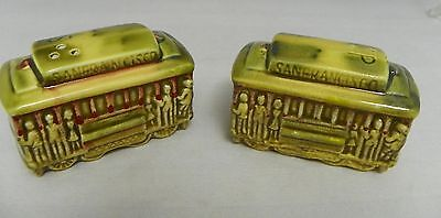 Vintage San Francisco Cable Car Salt & Pepper Souvenir SNCO Japan