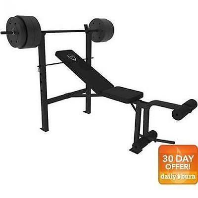 CAP Barbell Deluxe Bench With 100 Pound Weight Set Combo Home Fitness Workout da