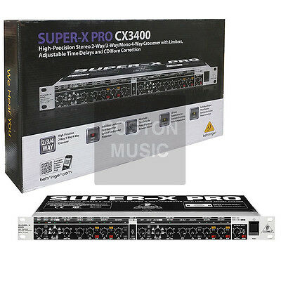 Behringer CX3400 Crossover 689076811385 DJ/Club/Live Pro 2/3/4-Way Professional