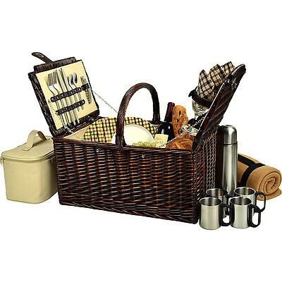 Picnic at Ascot Buckingham Picnic Willow Picnic Basket Outdoor Accessorie NEW