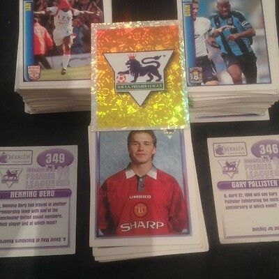 Merlin's Official Sticker Collection-Premier League 1998 STICKERS