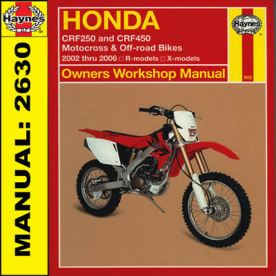 Honda CRF250 CRF250R & CRF450 2002 - 2006 Haynes Manual 2630 NEW