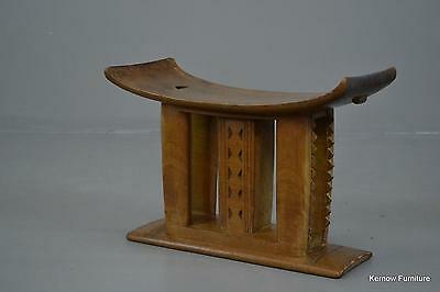 African Ashanti Asante Carved Wooden Stool