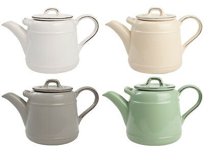 TG Pride Of Place Teapot Grey White Green Cream Ceramic 1.5ltr FREE DELIVERY P