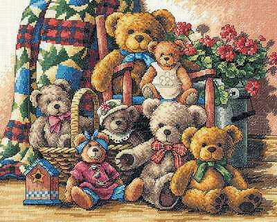 Gold Collection Teddy Bear Gathering Counted Cross Stitch Ki-15 In 088677351151