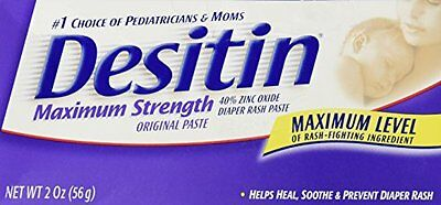 Desitin Max Strength Zinc Oxide Diaper Rash Paste 2oz  3/18