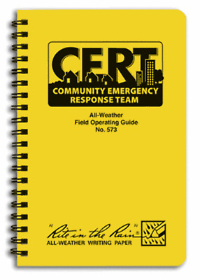 Cert Field Operating Guide By Rite In The Rain (80-0320)