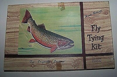 Vintage Hank Roberts Fishing Fly Tying Kit- With Instruction Booklet