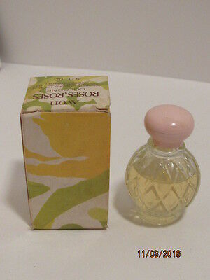 Vintage Estate Avon Roses Roses Cologne Diamond Pattern Pink Top Full NIP NOS