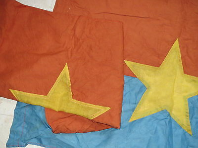 """2 FLAGS , NVA Flag COMMUNIST PARTY """"HAMMER And SICKLE , THE winners take it all"""