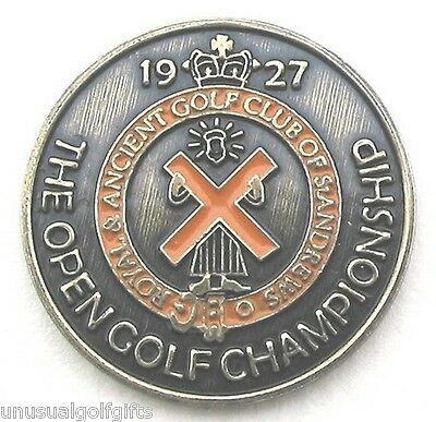 """1927 Open Golf Championship Ball Marker 1"""" Coin - Old St Andrews Links Scotland."""
