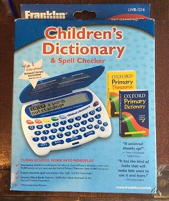 Franklin Electronic Childrens Dictionary Spell-Checker Oxfords and Thesaurus
