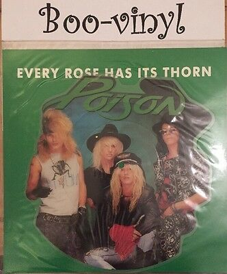 POISON every Rose has its thorn US CAPITOL 7-inch Shaped Picture Disc CLP 520 Ex