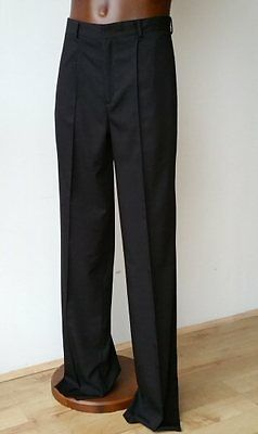 Ballroom / Latin / Tango / Salsa Steetchy Mens Trousers With Pockets, Black