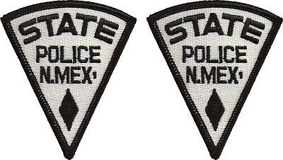 """Hat Size New Mexico State Police Patches - Pair - 3""""T by 2 1/2""""W - NEW"""
