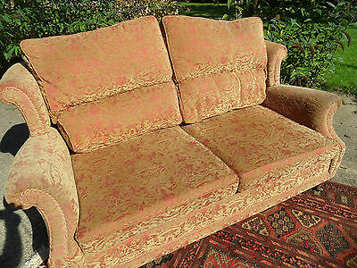 DEL £50 3 Seater Fabric Traditional Wing Back Lounge Sofa Settee Couch