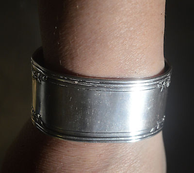 Antique Solid Sterling Silver 925 Cuff Bracelet Bangle Artisan Spoon Jewelry
