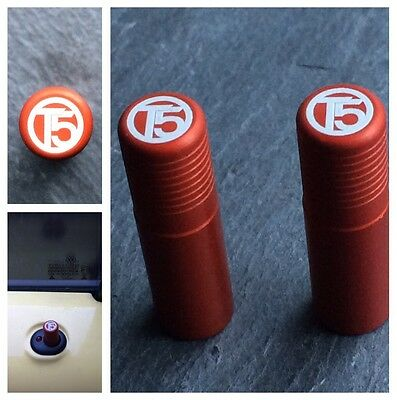 VW T5 Orange Door Lock Pull Pins Set of 2 Precision Machined Laser Engraved Ally