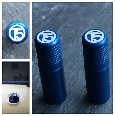 VW T5 Blue Door Lock Pull Pins Set of 2 Precision Machined Laser Engraved Alloy