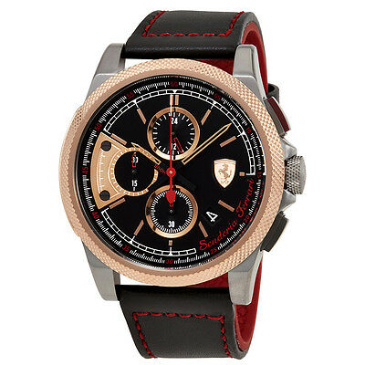Ferrari Formula Italia S Chronograph Black Dial Mens Watch 830313