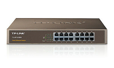 TP-LINK 16-Port 3.2 Gbit/s Unmanaged 1U Network Switch (TL-SF1016DS)